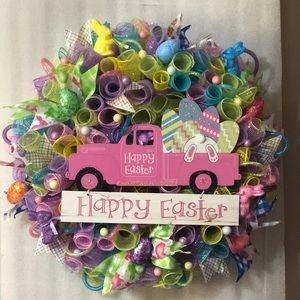 Large Easter door wreath